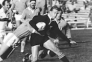 New Zealand vs Italy. John Kirwin running through a tackle. Date unkown, Photo: Norman Smith.