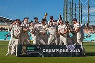 Nov 2018 - Book images - Champions 2018 Surrey  at the Oval.