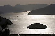 Geojedo (Geoje Island), Hallyeo Maritime National Park. Late afternoon sun near Jeogu.