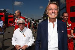 06.09.2014, Autodromo di Monza, Monza, ITA, FIA, Formel 1, Grand Prix von Italien, Qualifying, im Bild 06.09.2014, Autodromo di Monza, Monza, ITA, FIA, Formel 1, Grand Prix von Italien, Qualifying, im Bild Bernie Ecclestone (GBR) CEO Formula One Group (FOM) and Luca di Montezemolo (ITA) Ferrari President // during the Qualifying of Italian Formula One Grand Prix at the Autodromo di Monza in Monza, Italy on 2014/09/06. EXPA Pictures © 2014, PhotoCredit: EXPA/ Sutton Images<br /> <br /> *****ATTENTION - for AUT, SLO, CRO, SRB, BIH, MAZ only*****