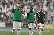 Mario Mandzukic ,Blaise Matudi and Federico Bernardeschi (Juventus Turin) during the Italian championship Serie A match between Juventus Turin and Lazio Roma at Allianz Stadium in Turin, Italy, on August 25, 2018 - Picture by Laurent Lairys / ProSportsImages / DPPI