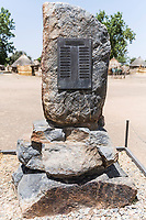Wall of rememberance honoring rangers killed on duty, Zakouma National Park, Chad