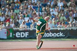 SCHUTTE Casper, RSA, Javelin, F42, 2013 IPC Athletics World Championships, Lyon, France