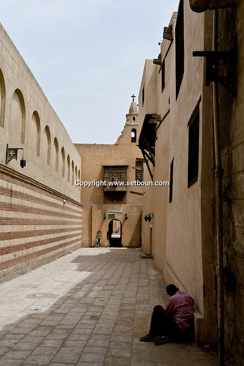Egypt. Cairo - Saint Georges church - Mari Girgis - in the old Cairo. coptic area     + e