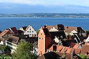 Blick auf Meersburg und Überlinger See, Bodensee, Baden-Württemberg, Deutschland