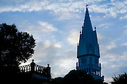 Manhumirim_MG, Brasil...Pinaculo da igreja Matriz do Bom Jesus em Manhumirim...The church spire of Matriz do Bom Jesus in Manhumirim. ..Foto: BRUNO MAGALHAES / NITRO