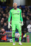 Chelsea Goalkeeper Wilfredo Caballero during the The FA Cup fourth round match between Chelsea and Sheffield Wednesday at Stamford Bridge, London, England on 27 January 2019.