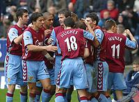 Photo: Dave Linney.<br />West Bromwich Albion v Aston Villa. The Barclays Premiership. 02/01/2006.Villa's.Steven Davis(3rd from right) celebrates putting Villa ahead.