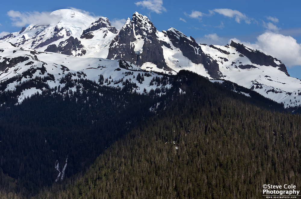 Warm Creek Falls and Mount Baker - Mount Baker Wilderness