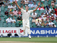 Morne Morkel reacts after bowling to Paul Collingwood during day 4 of the 4th Castle Test between South Africa and England held at The Bidvest Wanderers Stadium in Johannesburg, South Africa on the 17 January 2010.Photo by:  Ron Gaunt/SPORTZPICS