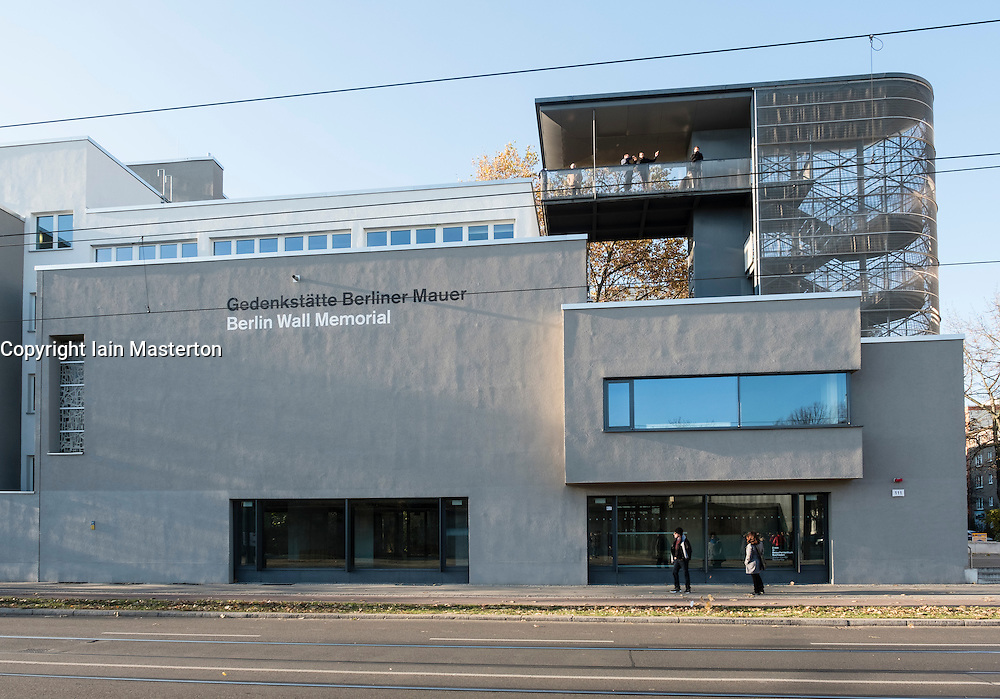Berlin wall Memorial visitor centre on Bernauer Strasse in Berlin, Germany