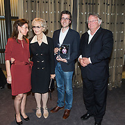 NLD/Amsterdam/201400414 - Uitreiking Erik Hazelhoff Jong Talentprijs en Biografieprijs door prinses Anita Sekreve, weduwe Karin Hazelhoff Roelfzema, Rick Honings en Peter van Zonneveld zijn de winnaars van de Erik Hazelhoff Biografieprijs 2014