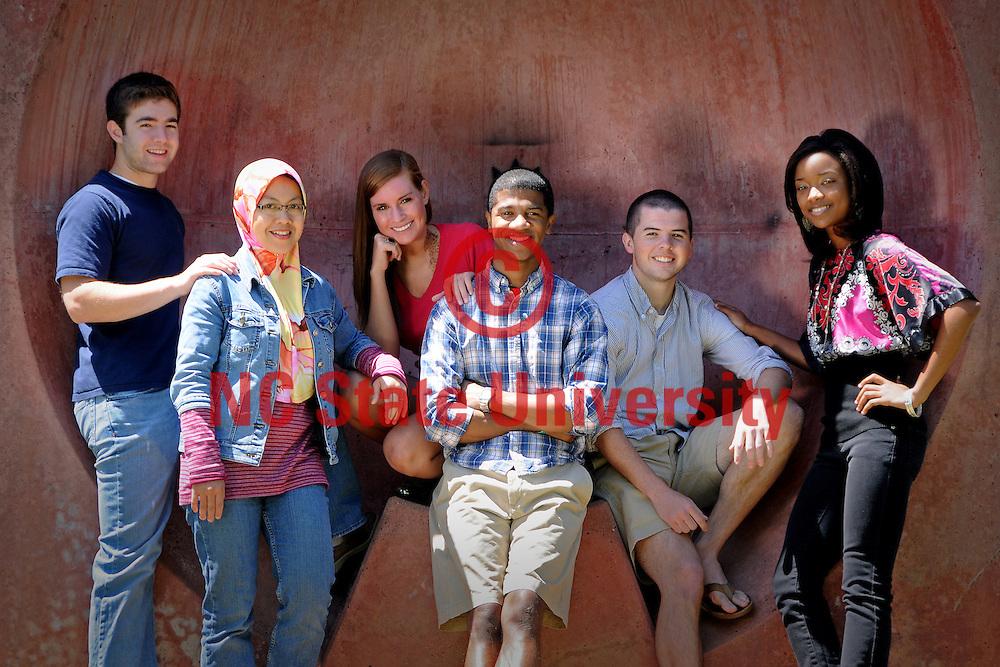 Students on the Brickyard.