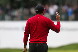 September 10, 2018 - Newtown Square, Pennsylvania, United States - Tiger Woods waves to the crowd after putting the 17th green during the final round of the 2018 BMW Championship. (Credit Image: © Debby Wong/ZUMA Wire)