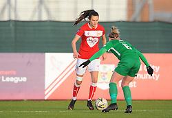 Rosella Ayane of Bristol City tries to get past Hannah Short of Yeovil Town Ladies- Mandatory by-line: Nizaam Jones/JMP - 27/01/2019 - FOOTBALL - Stoke Gifford Stadium - Bristol, England - Bristol City Women v Yeovil Town Ladies- FA Women's Super League 1