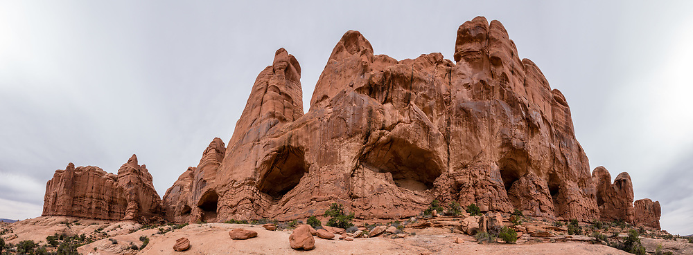 Cove of Caves in the Windows Section of Arches National Park, Moab, Utah, USA. This image was stitched from multiple overlapping photos.
