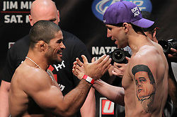 East Rutherford, NJ - May 04, 2012:  Rousimar Palhares (left) and Alan Belcher (right) during the weigh-ins for UFC on FOX 3 at the Izod Center in East Rutherford, New Jersey.  Ed Mulholland for ESPN.com