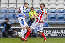 March 9, 2019 - London, England, United Kingdom - Stoke City's Tom Edwards is challenged by Queens Park Rangers Nahki Wells during the first half of the Sky Bet Championship match between Queens Park Rangers and Stoke City at Loftus Road Stadium, London on Saturday 9th March 2019. (Credit Image: © Mi News/NurPhoto via ZUMA Press)