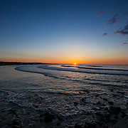 Today's  winter sunrise at Narragansett Town Beach,  .  June  9, 2013.