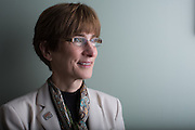 Cyndi Zagieboylo, President and CEO of the National Multiple Sclerosis Society, poses for a portrait in Rochester, New York on September 22, 2016. The National MS Society is launching a campaign to highlight rising drug prices.