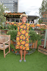 GEMMA CAIRNEY at a vintage fashion pop-up evening hosted by Dawn O'Porter at The Gardening Society, John Lewis, Oxford Street on 27th July 2016.