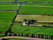 Nederland, Utrecht, Kockengen, 14-09-2019; veenweide landschap tussen Zegveld en Teckop. Kockengense molen, wipmolen, windmolen watermolen.<br /> Kockengen mill, windmill, watermill.<br /> luchtfoto (toeslag op standard tarieven);<br /> aerial photo (additional fee required);<br /> copyright foto/photo Siebe Swart