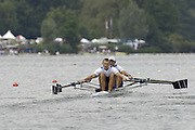 2005 FISA World Cup, Rotsee, Lucerne, SWITZERLAND, 08.07.2005 RUS  M2X, Bow Denis Kleshnev and Nikta Morganchev.  move away from the start  on the opening day of the final round of the 2005 FISA Rowing World Cup..© Peter Spurrier.  email images@intersport-images..[Mandatory Credit Peter Spurrier/ Intersport Images] Rowing Course, Lake Rottsee, Lucerne, SWITZERLAND.