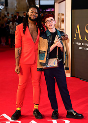 MNEK and Olly Alexander attending the UK Premiere of A Star is Born held at the Vue West End, Leicester Square, London.