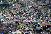 aerial photograph of Rotherham, South Yorkshire S60 England UK