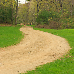 A farm road at Windrush Farm in North Andover and Boxford, Massachusetts.