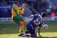 Leicester - Saturday, February 16th, 2008: Joe Mattock (R) of Leicester City and Jon Otsemobor (L) of Norwich City during the Coca Cola Champrionship match at the Walkers Stadium, Leicester. (Pic by Mark Chapman/Focus Images)