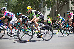 Krista Doebel-Hickok (USA) of Cylance Pro Cycling rides near the front during the fourth, 70 km road race stage of the Amgen Tour of California - a stage race in California, United States on May 22, 2016 in Sacramento, CA.