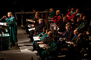The 2013 graduate commencement ceremony took place at the Convocation Center at Ohio University in Athens, Ohio on Friday, May 3, 2013. Photo by Chris Franz