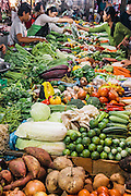 Morning fresh produce at the Old Market, Siem Reap