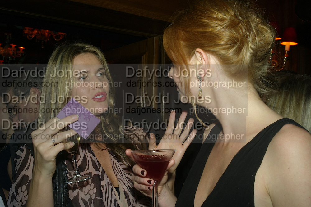 Celia Walden and Olivia Inge, Tatler's Little Black Book party. Tramp. Jermyn St.  London. 7 November 2007. -DO NOT ARCHIVE-© Copyright Photograph by Dafydd Jones. 248 Clapham Rd. London SW9 0PZ. Tel 0207 820 0771. www.dafjones.com.