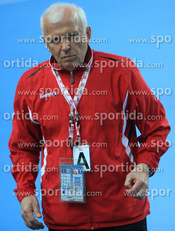 Head coach of Tunisia Zoran Zivkovic during 21st Men's World Handball Championship preliminary Group C match between National teams of Tunisia and Algeria, on January 22, 2009, in Arena Varazdin, Varazdin, Croatia.  (Photo by Vid Ponikvar / Sportida)
