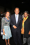 l to r: Arlene Bascom, Rev. Calvin O. Butts, and Mrs. Butts at The Abyssinian Baptist Church Official Kick-Off The Abyssinian Fund Benefit held at the Harlem Gate House on December 5, 2009 in Harlem, New York City..The Abyssinian Fund is committed to reducing poverty in Ethiopia by working with partner organizations, farming cooperatives and community residents to improve healthcare, education and access to clean water.