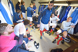 Behind the scenes, FRA v CZE at the 2016 Football des Sourds France V Tcheque Republique, Igny,