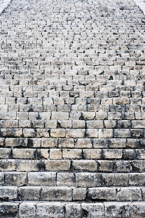 Kukulkan Pyramid  of Chichen Itza yucatan was a Maya  archaeological sites Mexico