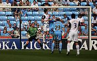 Photo: Rich Eaton.<br /> <br /> Coventry City v Preston North End. Coca Cola Championship. 14/04/2007. David Nugent of Preston heads home his teams second goal  in the first half
