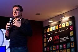 Renê de Paula Jr, durante palestra do youPIX, no auditório da ESPM, em Porto Alegre. FOTO: Emmanuel Denaui/Preview.com