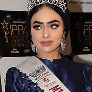 Sara Iftekhar is a Muslim Miss England finalist arrives at the Annual International Pakistan Prestige Awards (IPPA) at Indigo at The O2 on 9th September 2018, London, UK