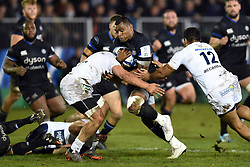 Semesa Rokoduguni of Bath Rugby takes on the Clermont Auvergne defence - Mandatory byline: Patrick Khachfe/JMP - 07966 386802 - 06/12/2019 - RUGBY UNION - The Recreation Ground - Bath, England - Bath Rugby v Clermont Auvergne - Heineken Champions Cup