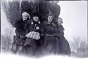 group of girls together USA 1920s