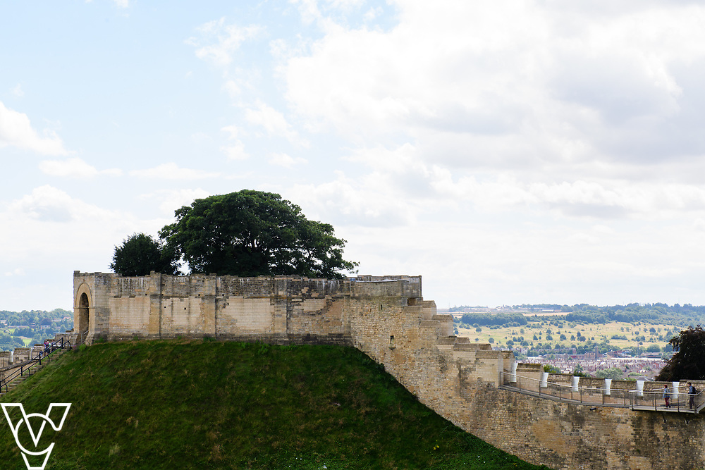 Lincoln Castle seen from the wall walk.<br /> <br /> Picture: Chris Vaughan Photography<br /> Date: August 4, 2017