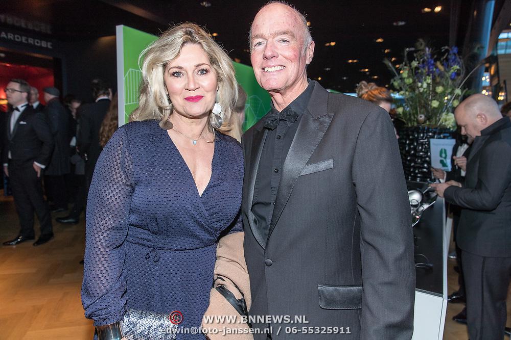 NLD/Amsterdam/20180305 - Uitreiking Buma Awards 2018, Ferdi Bolland en partner Marion Bolland