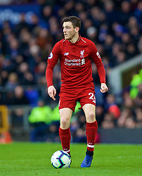 LIVERPOOL, ENGLAND - Sunday, March 3, 2019: Liverpool's Andy Robertson during the FA Premier League match between Everton FC and Liverpool FC, the 233rd Merseyside Derby, at Goodison Park. (Pic by Laura Malkin/Propaganda)