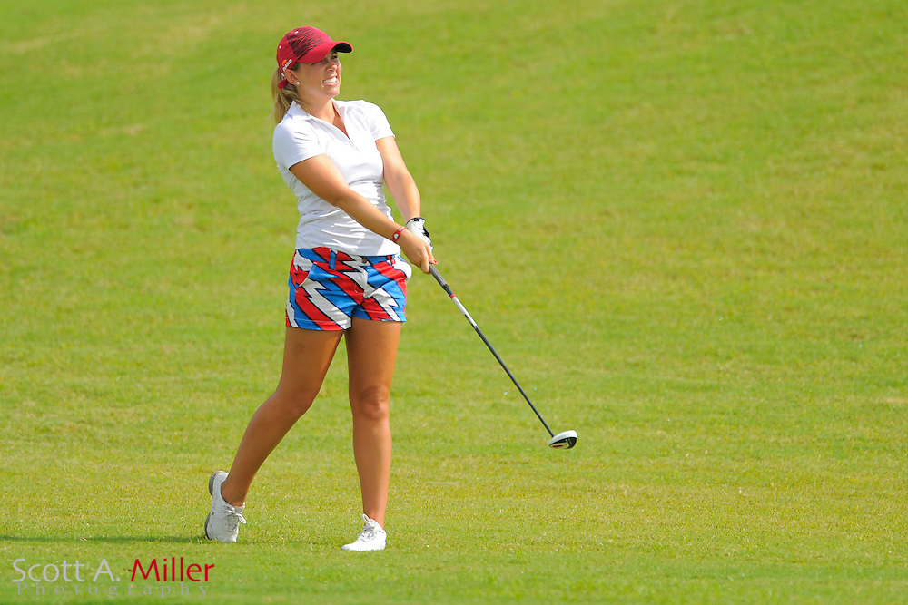 Sara Brown during the final round of the Daytona Beach Invitational  at LPGA International on Sep 30, 2012 in Daytona Beach, Florida...©2012 Scott A. Miller