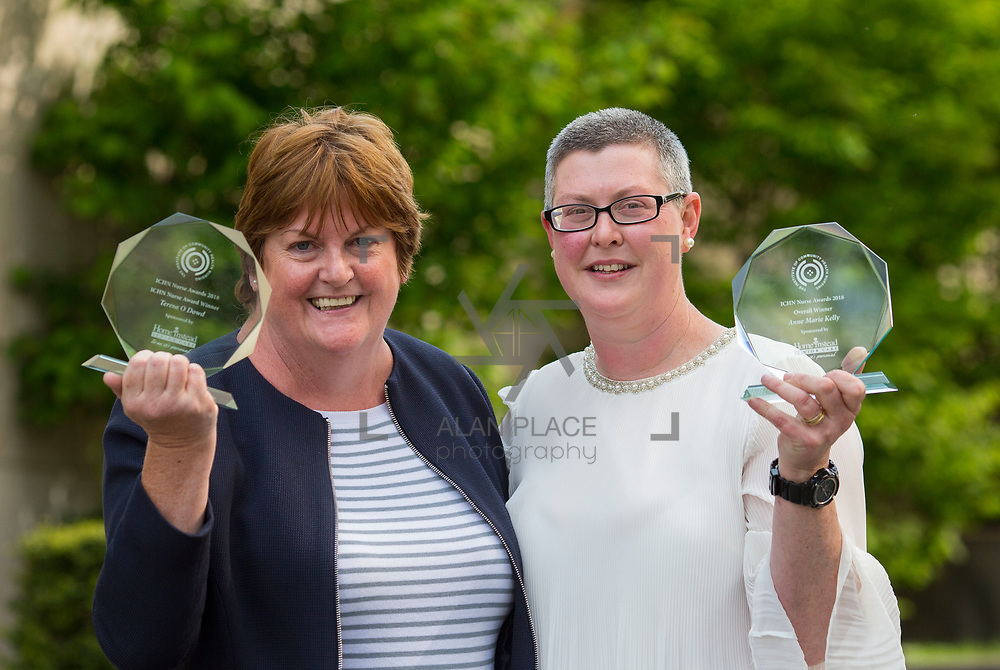 23.05.2018.       <br /> Today, the Institute of Community Health Nursing (ICHN) hosted its&nbsp;2018 community nurse&nbsp;awards in association with&nbsp;Home Instead Senior Care,&nbsp;at its annual nursing conference, in the Strand Hotel Limerick, rewarding public health nurses for their dedication to community care across the country. <br /> <br /> Pictured are, ICHN Nurse Awards Joint Award Winners - Teresa O Dowd Registered General Nurse Lucan Health Centre Dublin and Anne Marie Kelly CNS Continence Promotion Unit Dr Stevens Hospital Dublin. Picture: Alan Place