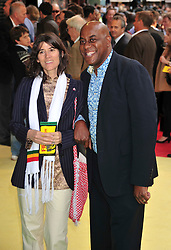 © licensed to London News Pictures. London, UK.  09/05/11. Bea Freud and Ainsley Harriott  attends the London premiere of Fire in Babylon in Leicester Square . Please see special instructions for usage rates. Photo credit should read AlanRoxborough/LNP